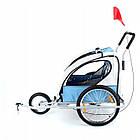 Велопричеп двомісний Jogger Blue амортизований, фото 2