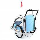 Велопричеп двомісний Jogger Blue амортизований, фото 5