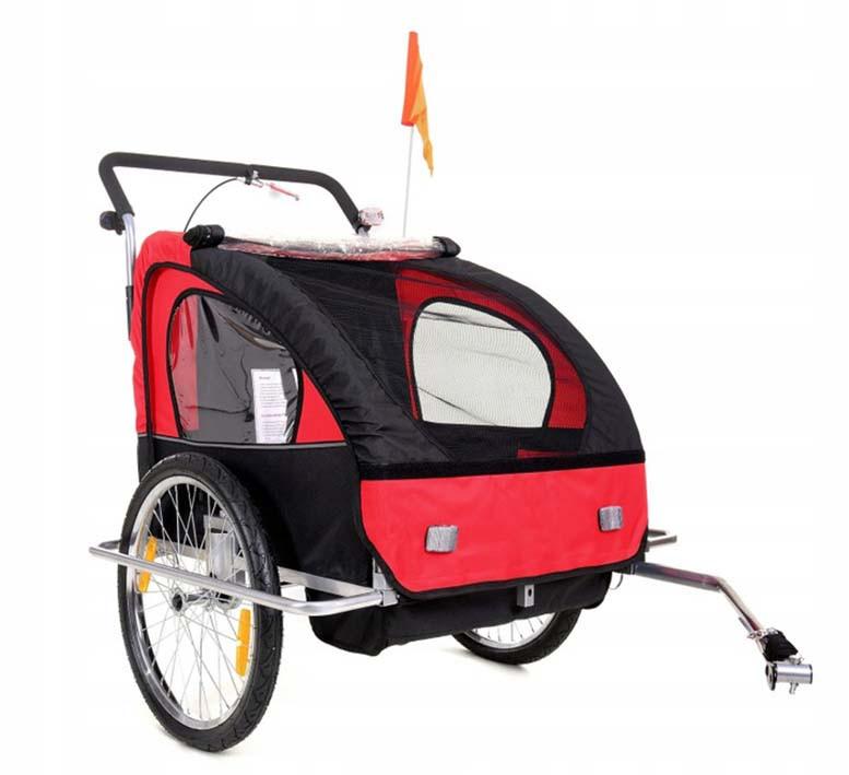Велопричеп двомісний Jogger Red