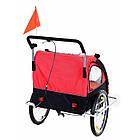 Велопричеп двомісний Jogger Red, фото 5