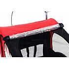 Велопричеп двомісний Jogger Red, фото 8