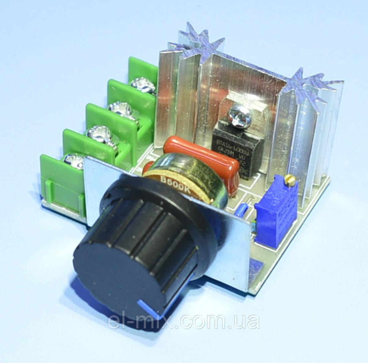 Модуль: регулятор мощности AC 220V 2КВт с радиатором, Китай