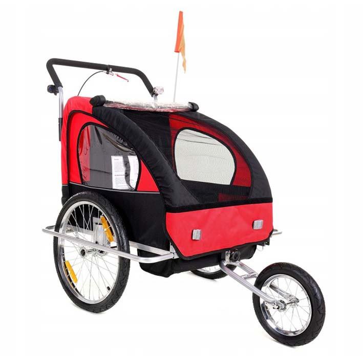 Велопричеп двомісний Jogger Red амортизований