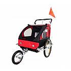 Велопричеп двомісний Jogger Red амортизований, фото 6