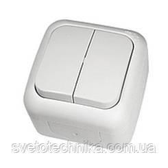 Выключатель Palmiye двухклавишный  IP64  (серого цвета)