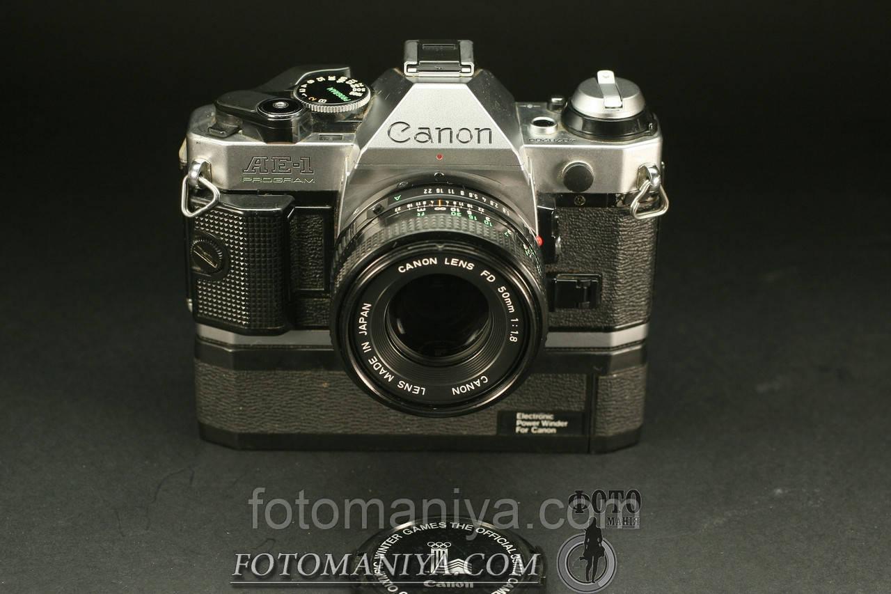 Canon AE-1 Program Canon nFD 50mm f1,8  + winder