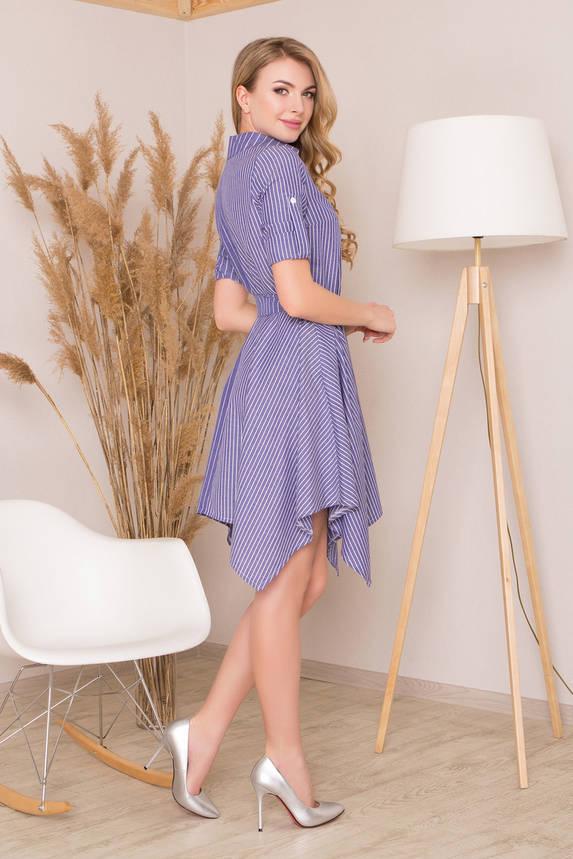 Трикотажное платье с поясом в полоску, фото 2