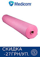 Одноразовая простынь в рулоне розовая MEDICOM Standart 25г/м.кв 80 х 100