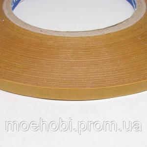 Скотч двухсторонний для кожи 100м - 6мм