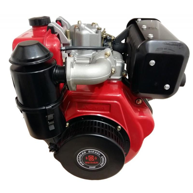 Двигатель дизельный WEIMA WM186FBE (9,5 л.с., вал 25мм, шпонка, электростартер, съемный цилиндр)