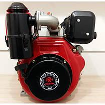 Двигатель дизельный WEIMA WM186FBE (9,5 л.с., вал 25мм, шпонка, электростартер, съемный цилиндр), фото 3
