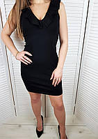 РАСПРОДАЖА! Трикотажное приталенное платье с волнами, фото 1