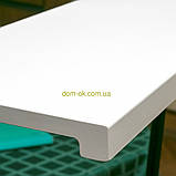 Підвіконня Топалит /Topalit (Австрія) , Mono Classic, колір білий матовий 406 ширина 400 мм, фото 2