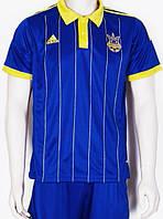 Детско-подростковая (3-15 лет) футбольная форма без номера - сборной Украины (2014/2015) - синяя, гостевая