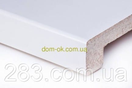 Подоконник Топалит /Topalit (Австрия) , Mono Classic,  цвет белоснежный полуглянцевый 406 ширина 450 мм