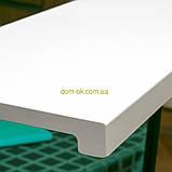 Подоконник Топалит /Topalit (Австрия) , Mono Classic,  цвет белоснежный полуглянцевый 406 ширина 250 мм, фото 2