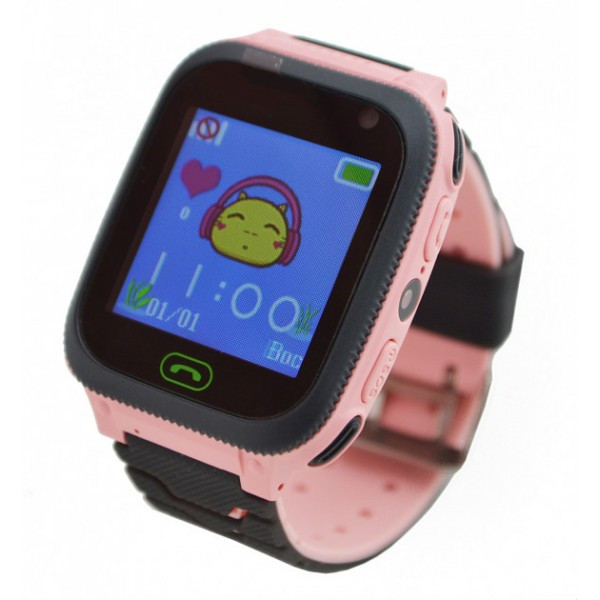 Детские умные часы с GPS UWatch F3 с фонариком Pink Original