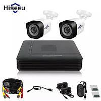 Комплект видеонаблюдения 720P Hiseeu 4CH  Внешняя, погодозащитная, инфракрасное Ночное Видение