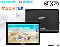 """Игровой Планшет-Телефон MiXzo MX-1037 4G 10.1"""" 8 Ядер Металл 2 СИМ 3G GPS 16GB + Чехол"""