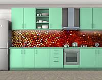 Кухонный фартук Круглые мелкие камни (Самоклейка наклейка виниловая пленка скинали для кухни) 60 х 300 см.