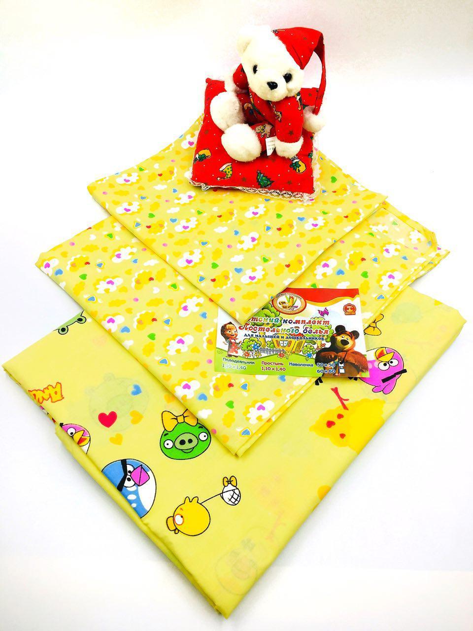 Детский комплект в кроватку из ранфорса Angry Birds