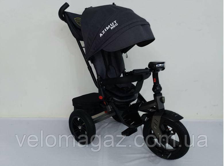 AZIMUT T-400 NEO AIR черный детский трехколесный велосипед