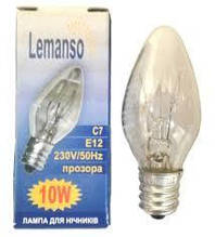 Лампочка Lemanso C7 для ночников 10W (в коробке)