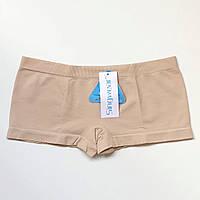Трусики женские шорты бесшовные бежевый