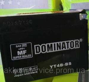 Аккумулятор мото Dominator YT4B-BS (12V-2.3AH)