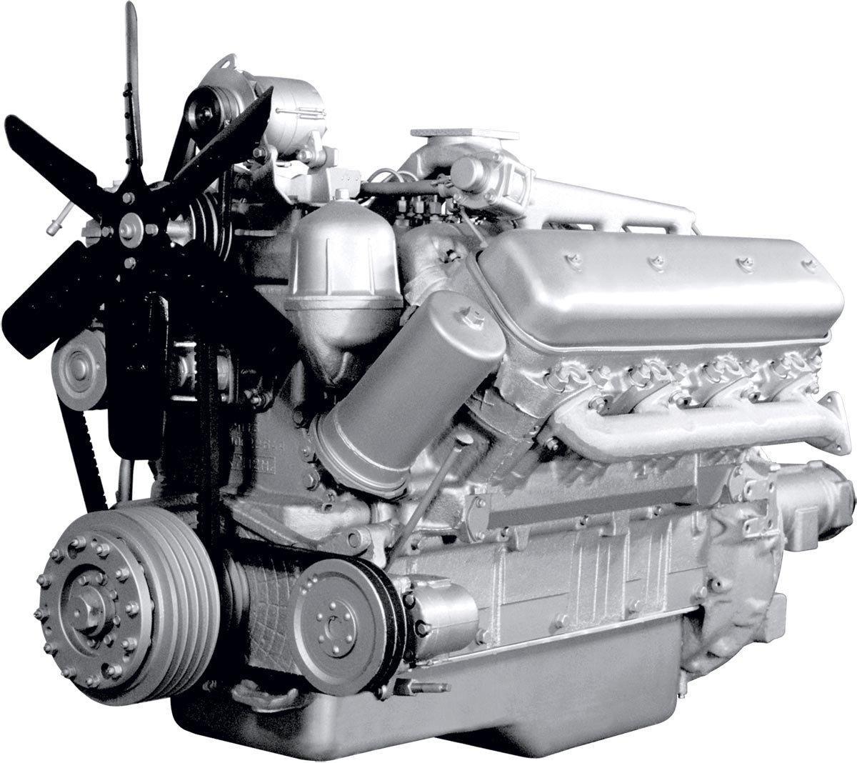 Двигатель ЯМЗ 240НМ2-1 в сб. без КПП и сцепл. (пр-во ЯМЗ)