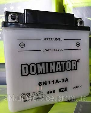 Аккумулятор мото Dominator 6N11A-3A (11AH-6V)