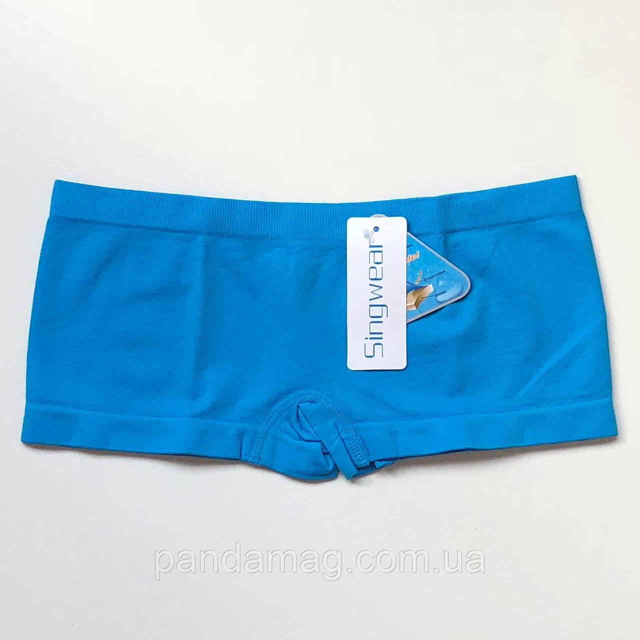 Трусики женские шорты бесшовные голубой
