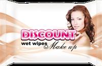 Влажные салфетки Discount для снятия макияжа, 20 шт.