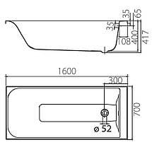 "Акриловая ванна Colombo ""Фортуна"" 160х70 см, фото 3"