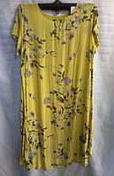 Платье из штапеля с цветочным принтом женское батальное (ПОШТУЧНО)