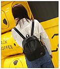 Рюкзак женский чёрный PU кожзам. 24 см - 29 см. - 12 см., фото 3