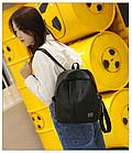 Рюкзак женский чёрный PU кожзам. 24 см - 29 см. - 12 см., фото 4