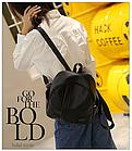 Рюкзак женский чёрный PU кожзам. 24 см - 29 см. - 12 см., фото 5