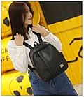 Рюкзак женский чёрный PU кожзам. 24 см - 29 см. - 12 см., фото 6