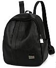 Рюкзак женский чёрный PU кожзам. 24 см - 29 см. - 12 см., фото 7