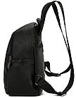 Рюкзак женский чёрный PU кожзам. 24 см - 29 см. - 12 см., фото 8