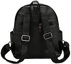 Рюкзак женский чёрный PU кожзам. 24 см - 29 см. - 12 см., фото 9