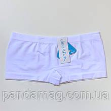 Трусики женские шорты бесшовные белый