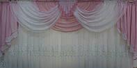 Ламбрекен на карниз 3м. №4 Розовый