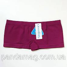 Трусики женские шорты бесшовные темно-фиолетовый (бордовый)