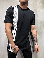 Мужская футболка черно-белая BRS-9042