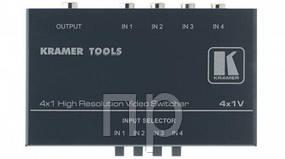 Механический коммутатор 4x1 ((разъемы RCA разъем) 400 МГц) 4x1V