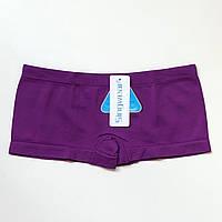 Трусики женские шорты бесшовные фиолетовый