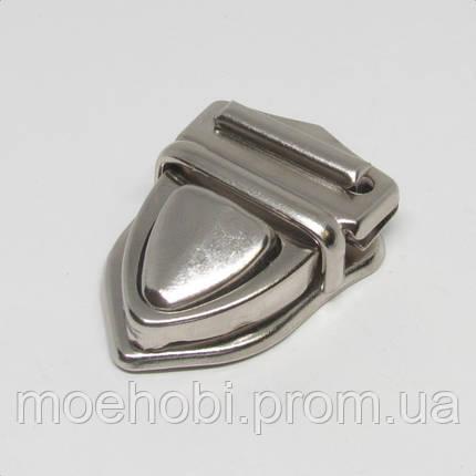 Замки для сумок  никель, упаковка 8шт артикул модели  4575, фото 2