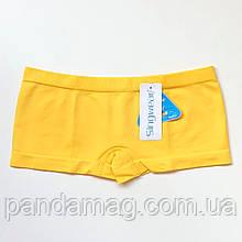Трусики женские шорты бесшовные желтый